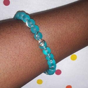Blue Wrapped Arm Bangle